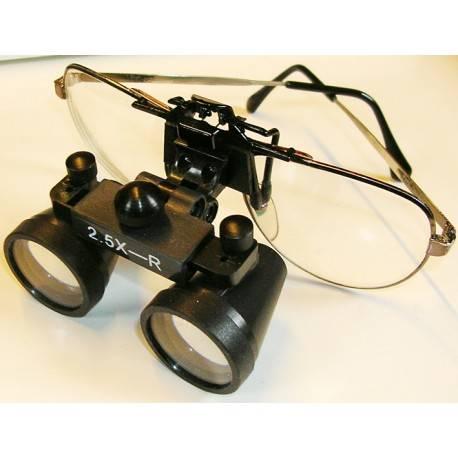 Occhiali binoculari con montatura