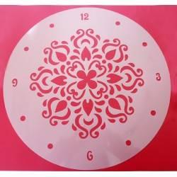 Stencil in materiale morbido e resistente per fare un orologio