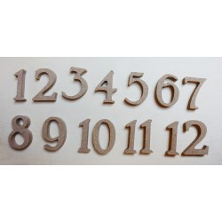 Set 12 numeri in MDF spessore 5 mm