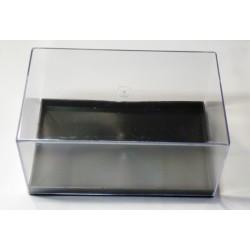 Scatolina trasparente in plastica rettangolare - 13,5 x 8,4 cm - altezza 6,6 cm