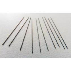 Set punte HSS elicoidali da 0,3 mm