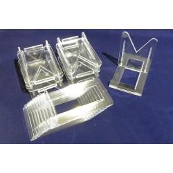 10 Supporti in plastica 6,9 X 4 X 5,2 cm