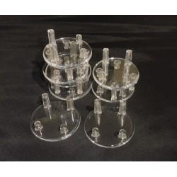 10 pezzi - Supporti rotondi in plastica - diametro 5 cm - altezza 2 cm