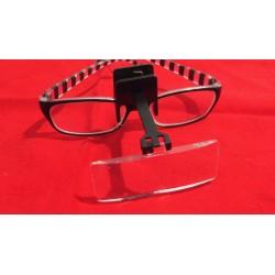 Lente clip rettangolare - 2,5X da agganciare a tutti gli occhiali