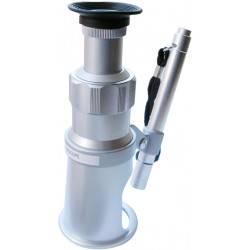 Microscopio portatile con illuminatore e reticolo di misurazione 60X